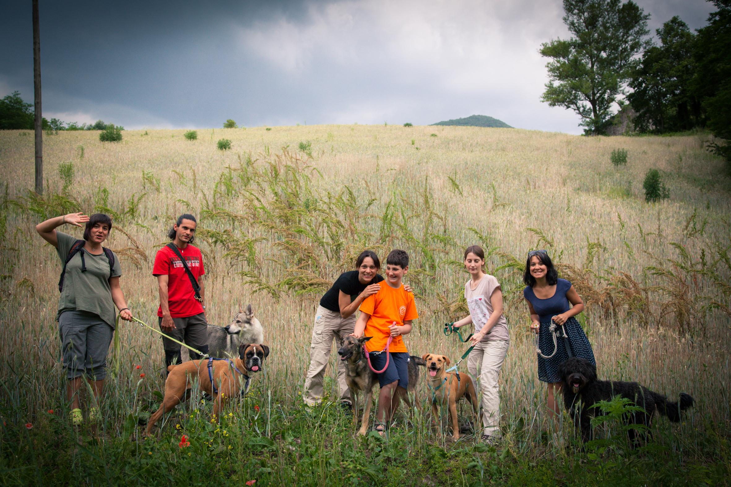 Alcuni partecipanti al corso di educazione cinofila Cane Spontaneo